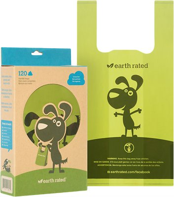 Earth Rated PoopBags Handle Bags, Unscented