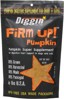 Diggin' Your Dog Firm Up! Pumpkin Super Dog & Cat Supplement Size: 4-oz bag