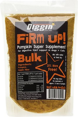Diggin' Your Dog Firm Up! Pumpkin Super Dog & Cat Supplement