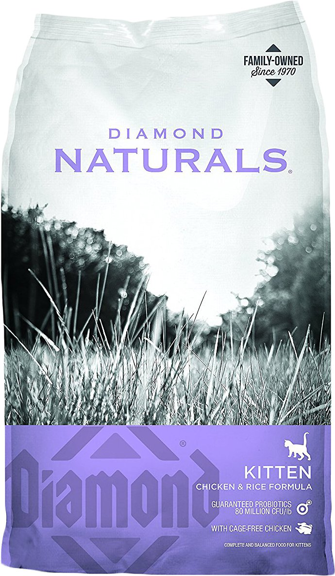 Diamond Naturals Kitten Formula Dry Cat Food, 6-lb bag