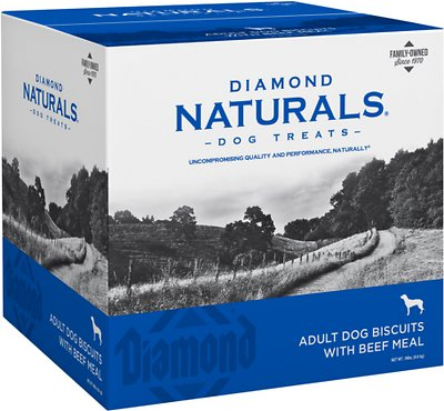 Diamond Naturals Adult Biscuits with Beef Meal Dog Treats, 19-lb box