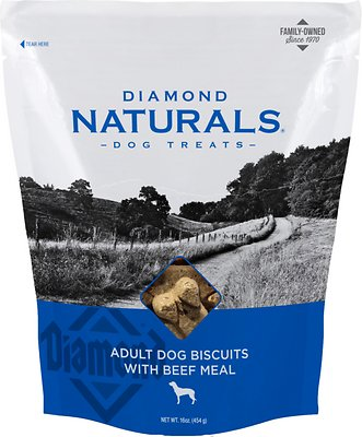 Diamond Naturals Adult Biscuits with Beef Meal Dog Treats Weights: 1.0 pounds, Size: 16-oz bag