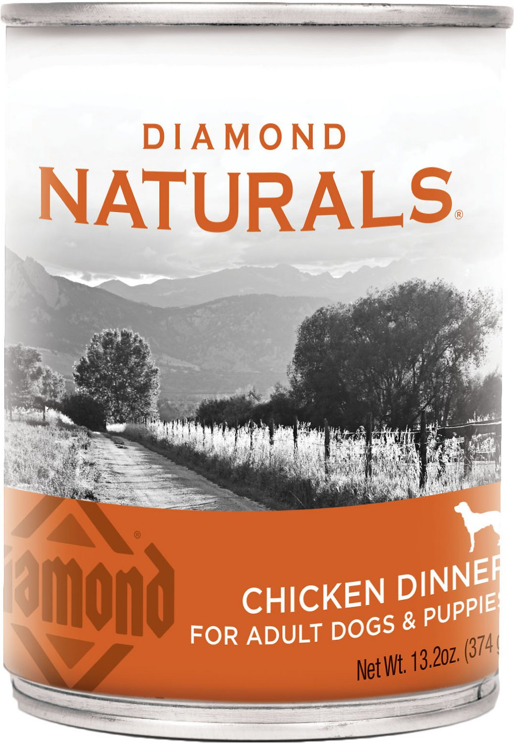 Diamond Naturals Chicken Dinner Adult & Puppy Canned Dog Food, 13.2-oz