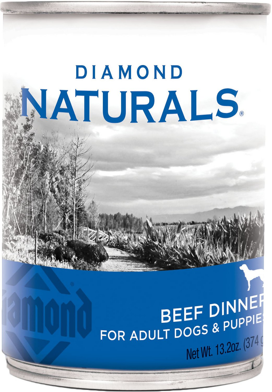Diamond Naturals Beef Dinner Adult & Puppy Canned Dog Food, 13.2-oz