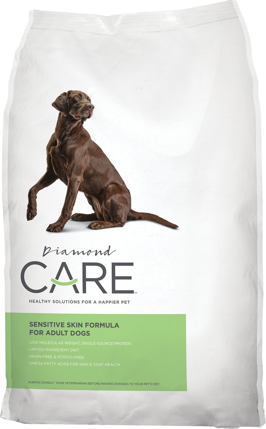 Diamond Care Sensitive Skin Formula Adult Limited Ingredient Grain-Free Dry Dog Food, 8-lb bag