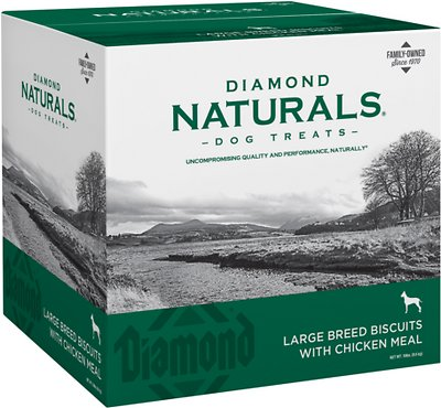 Diamond Naturals Large Breed Adult Biscuits with Chicken Meal Dog Treats, 19-lb box