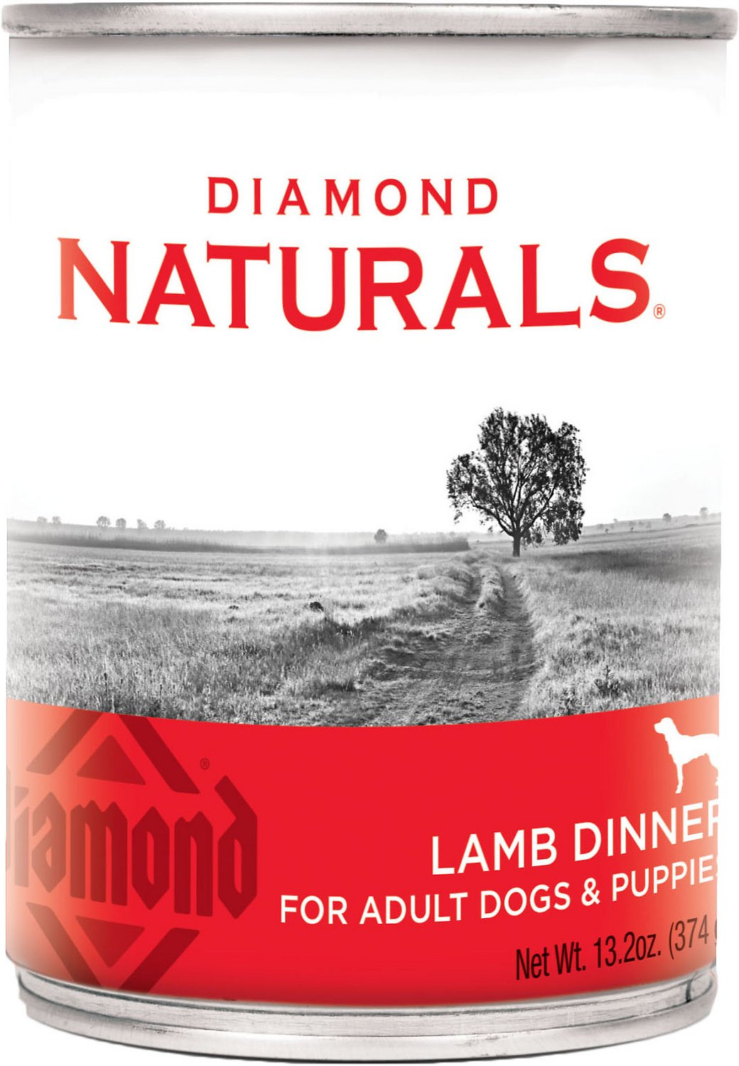 Diamond Naturals Lamb Dinner Adult & Puppy Canned Dog Food, 13.2-oz