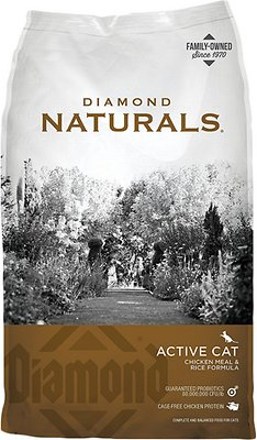 Diamond Naturals Active Chicken Meal & Rice Formula Dry Cat Food, 18-lb bag