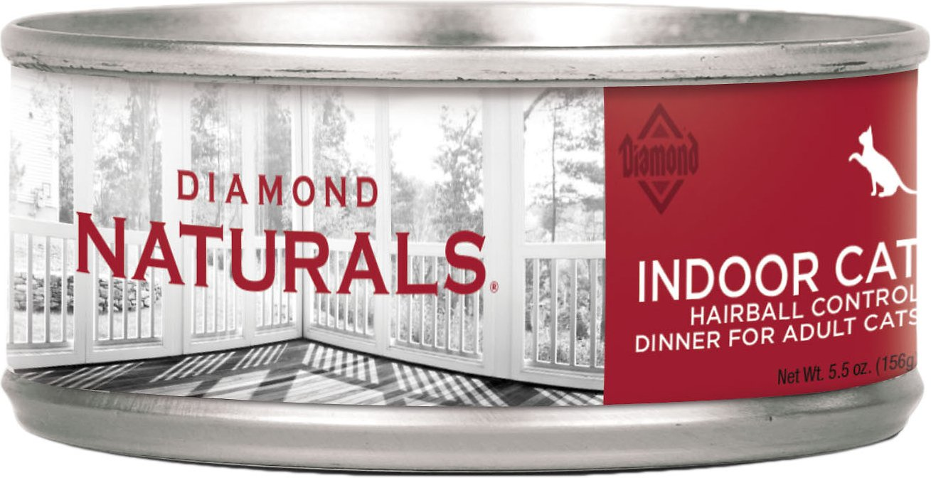 Diamond Naturals Indoor Hairball Control Adult Canned Cat Food, 5.5-oz