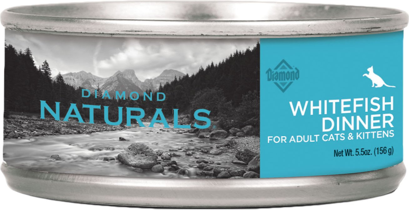Diamond Naturals Whitefish Dinner Adult & Kitten Canned Cat Food, 5.5-oz