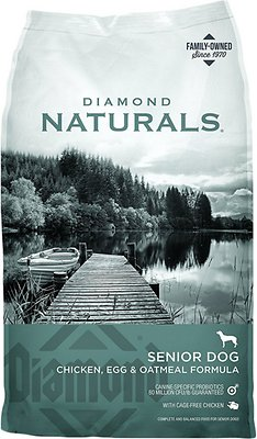 Diamond Naturals Senior Formula Dry Dog Food, 18-lb bag