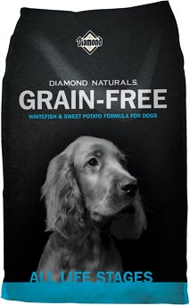 Diamond Naturals Grain-Free Whitefish & Sweet Potato Formula Dry Dog Food, 14-lb bag