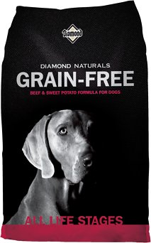 Diamond Naturals Grain-Free Beef & Sweet Potato Formula Dry Dog Food, 5-lb bag