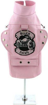 Doggie Design Biker Dawg Motorcycle Dog Jacket, Pink, XX-Large