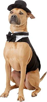 Doggie Design Dog Tuxedo with Matching Hat & Collar, Large