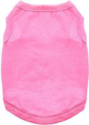 Doggie Design 100% Cotton Dog Tank, Carnation Pink, X-Small