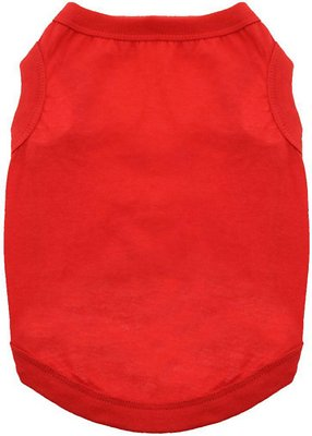 Doggie Design 100% Cotton Dog Tank, Flame Scarlet Red, Medium