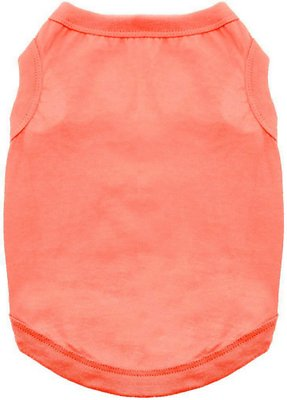 Doggie Design 100% Cotton Dog Tank, Coral, X-Large