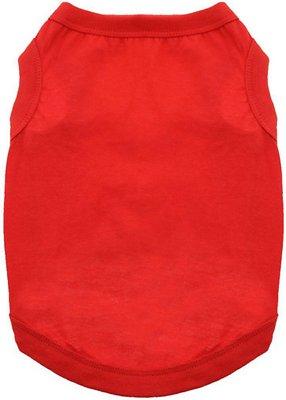 Doggie Design 100% Cotton Dog Tank, Flame Scarlet Red, XX-Large