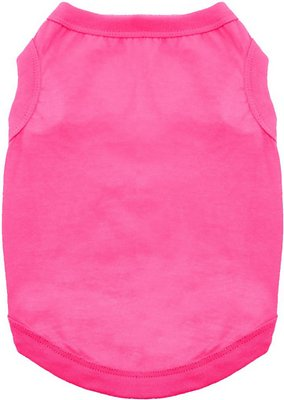 Doggie Design 100% Cotton Dog Tank, Raspberry Sorbet, X-Small