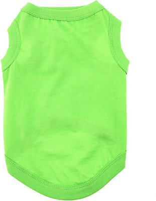 Doggie Design 100% Cotton Dog Tank, Green Flash, X-Small