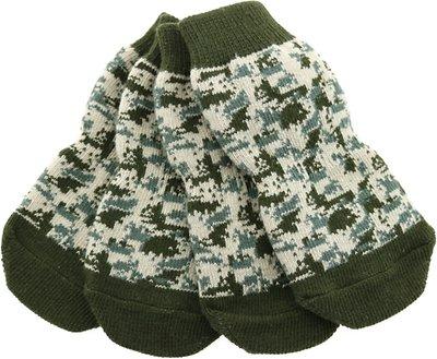 Doggie Design Non-Skid Dog Socks, Camouflage, Small