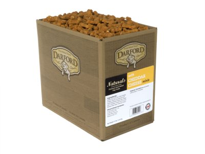 Darford Naturals Cheddar Cheese Recipe Mini Dog Treats, 12-lb box