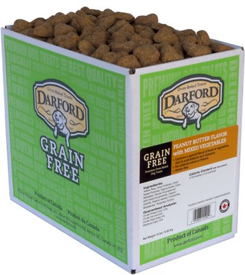 Darford Peanut Butter Recipe Grain-Free Dog Treats, 15-lb box