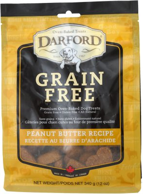 Darford Peanut Butter Recipe Grain-Free Dog Treats, 12-oz bag