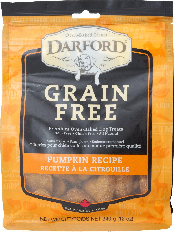 Darford Baked Pumpkin Recipe with Mixed Vegetables Grain-Free Dog Treats, 12-oz bag