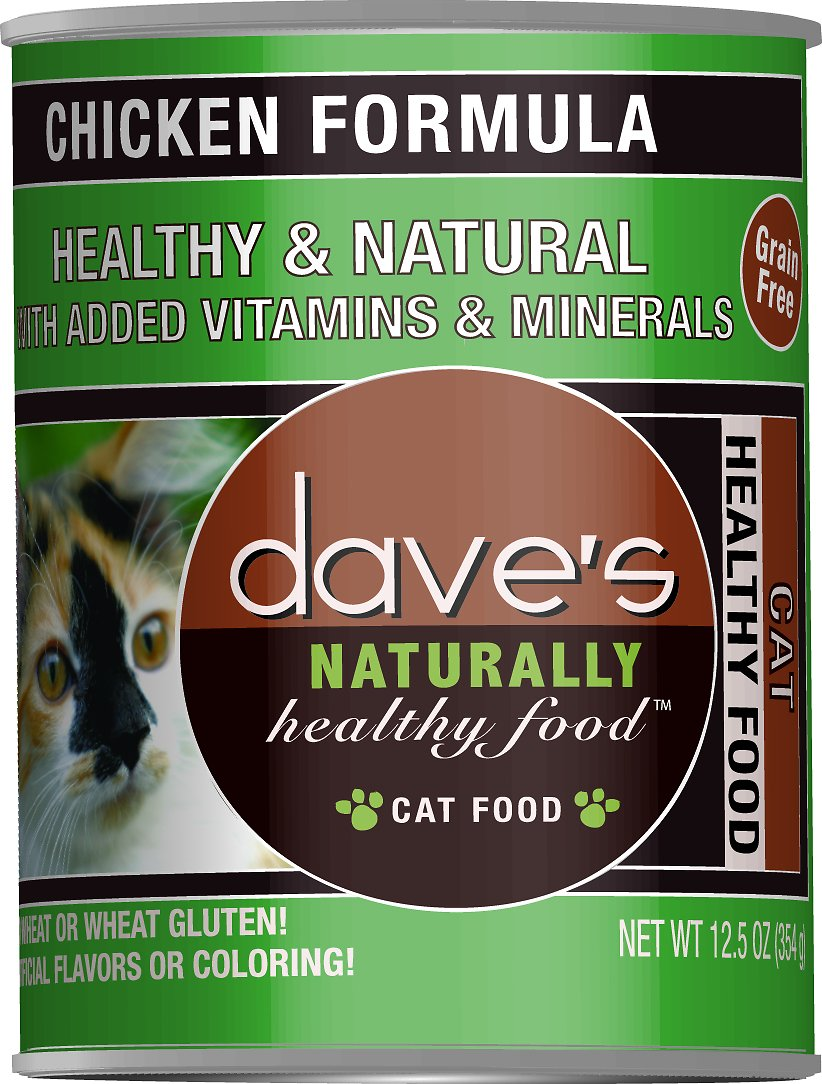 Dave's Cat Food Naturally Healthy Grain-Free Chicken Formula Canned Cat Food, 12.5-oz