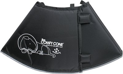Comfy Cone E-Collar for Dogs & Cats, Black