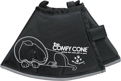 Comfy Cone E-Collar for Dogs & Cats, Black