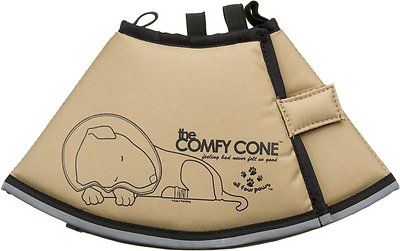 Comfy Cone E-Collar for Dogs & Cats, Tan