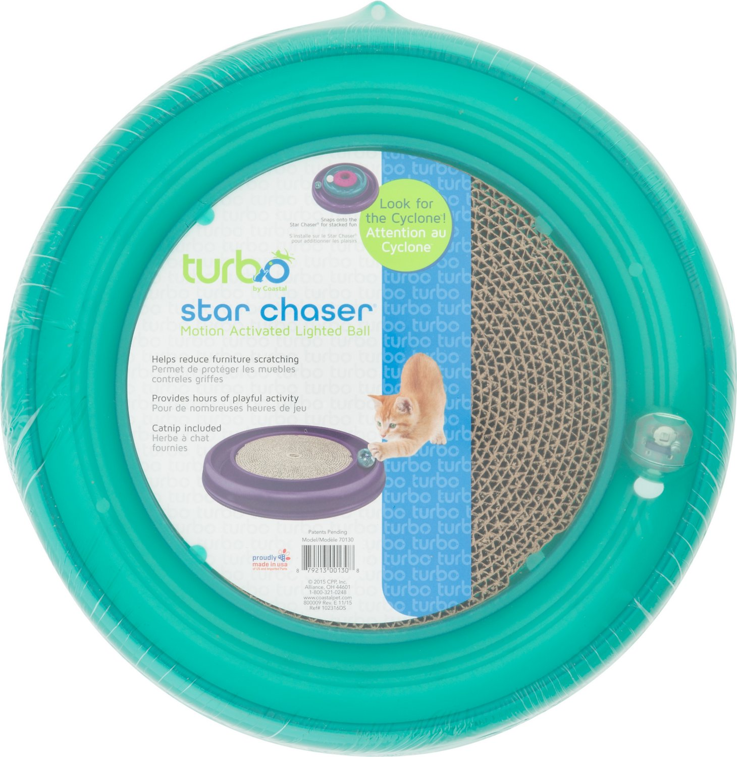 Turbo Star Chaser Scratcher Cat Toy, Color Varies