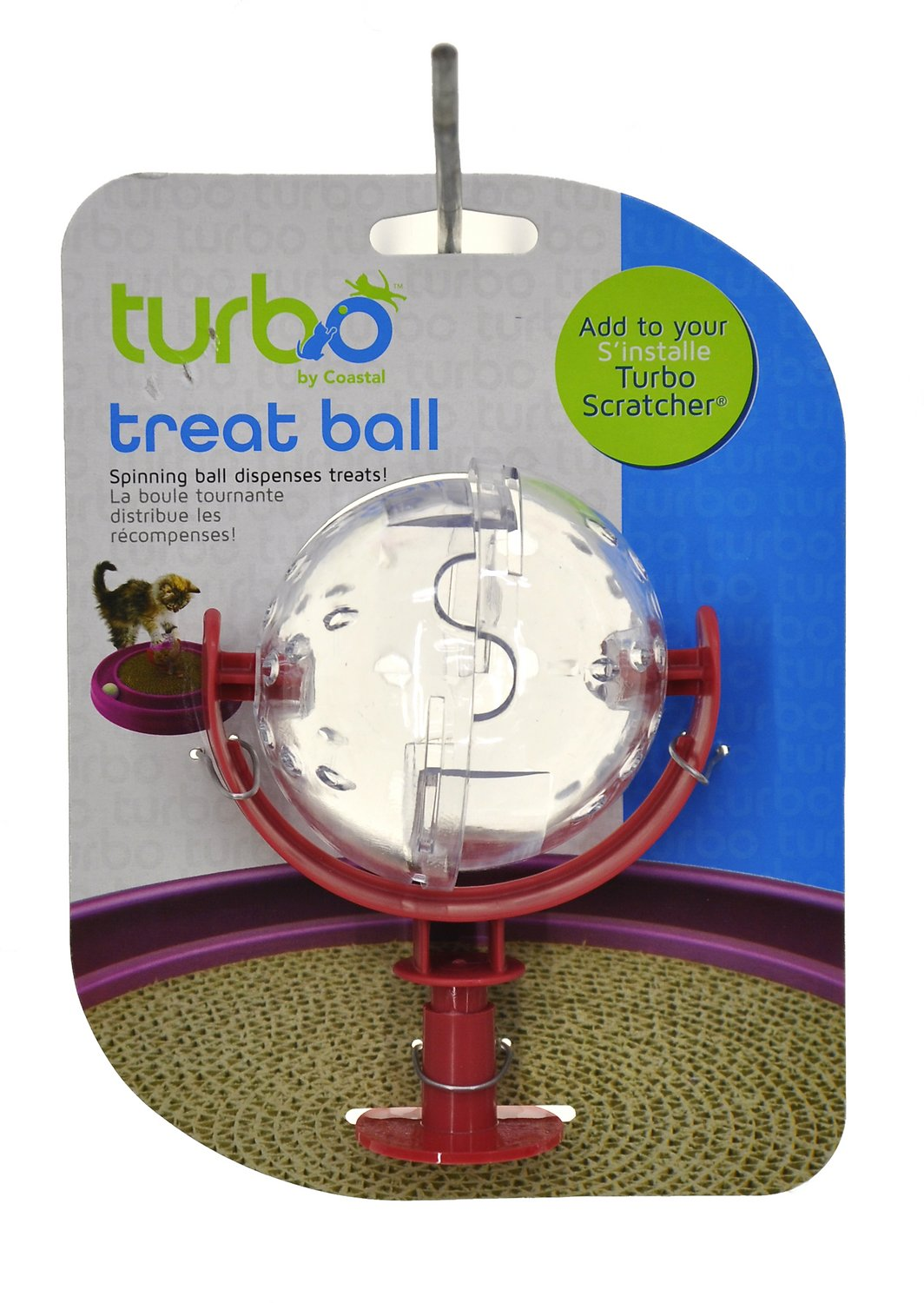 Bergan Scratcher Treat Ball Cat Toy