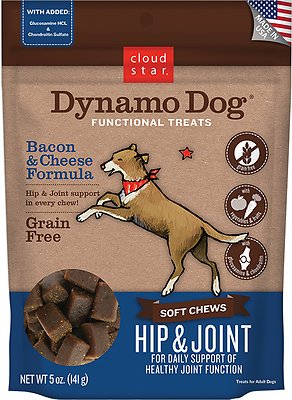 Cloud Star Dynamo Dog Hip & Joint Soft Chews Bacon & Cheese Formula Dog Treats