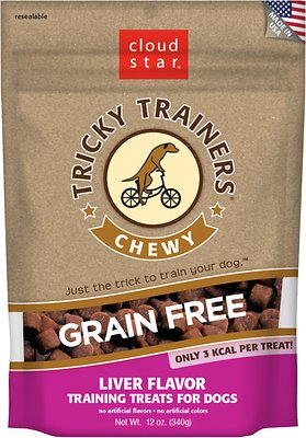 Cloud Star Tricky Trainers Chewy Grain Free Liver Flavor Dog Treats