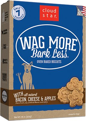 Cloud Star Wag More Bark Less Oven Baked with Bacon, Cheese & Apples Dog Treats