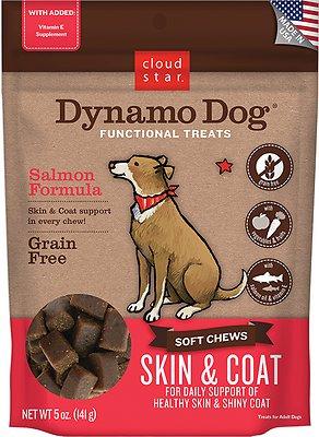 Cloud Star Dynamo Dog Skin & Coat Soft Chews Salmon Formula Dog Treats