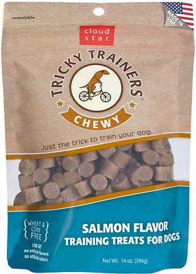 Cloud Star Chewy Tricky Trainers Salmon Flavor Dog Treats
