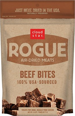 Cloud Star Rogue Air-Dried Beef Bites Dog Treats