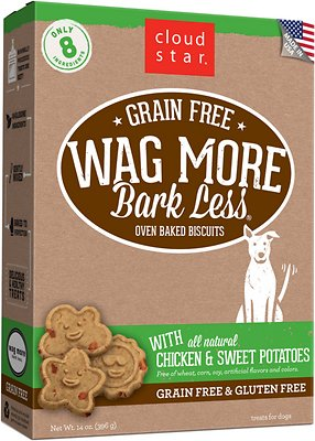 Cloud Star Wag More Bark Less Grain-Free Oven Baked with Chicken & Sweet Potatoes Dog Treats