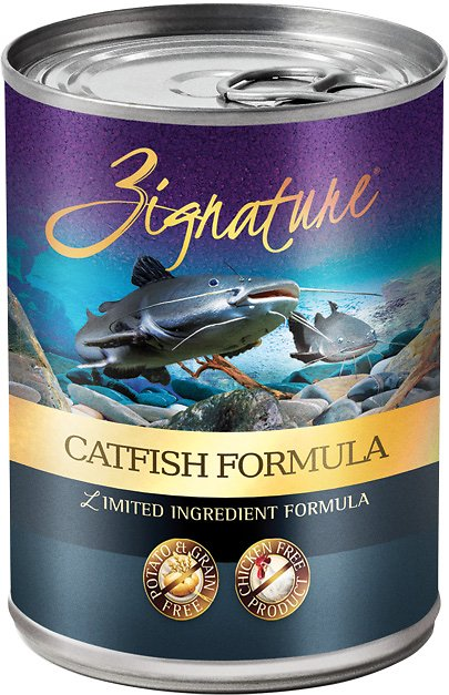 Zignature Catfish Limited Ingredient Formula Grain-Free Canned Dog Food, 13-oz