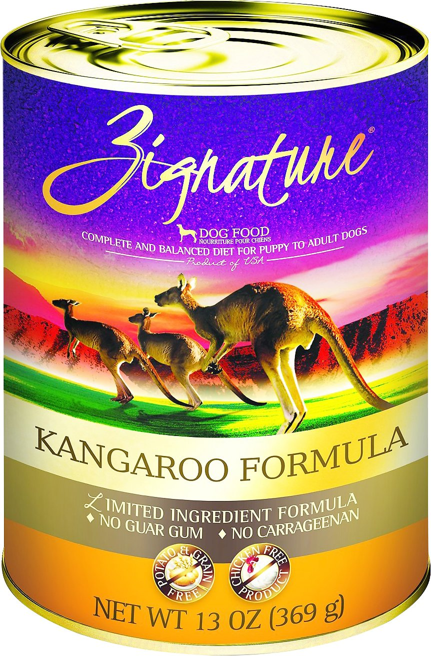 Zignature Kangaroo Limited Ingredient Formula Grain-Free Canned Dog Food, 13-oz