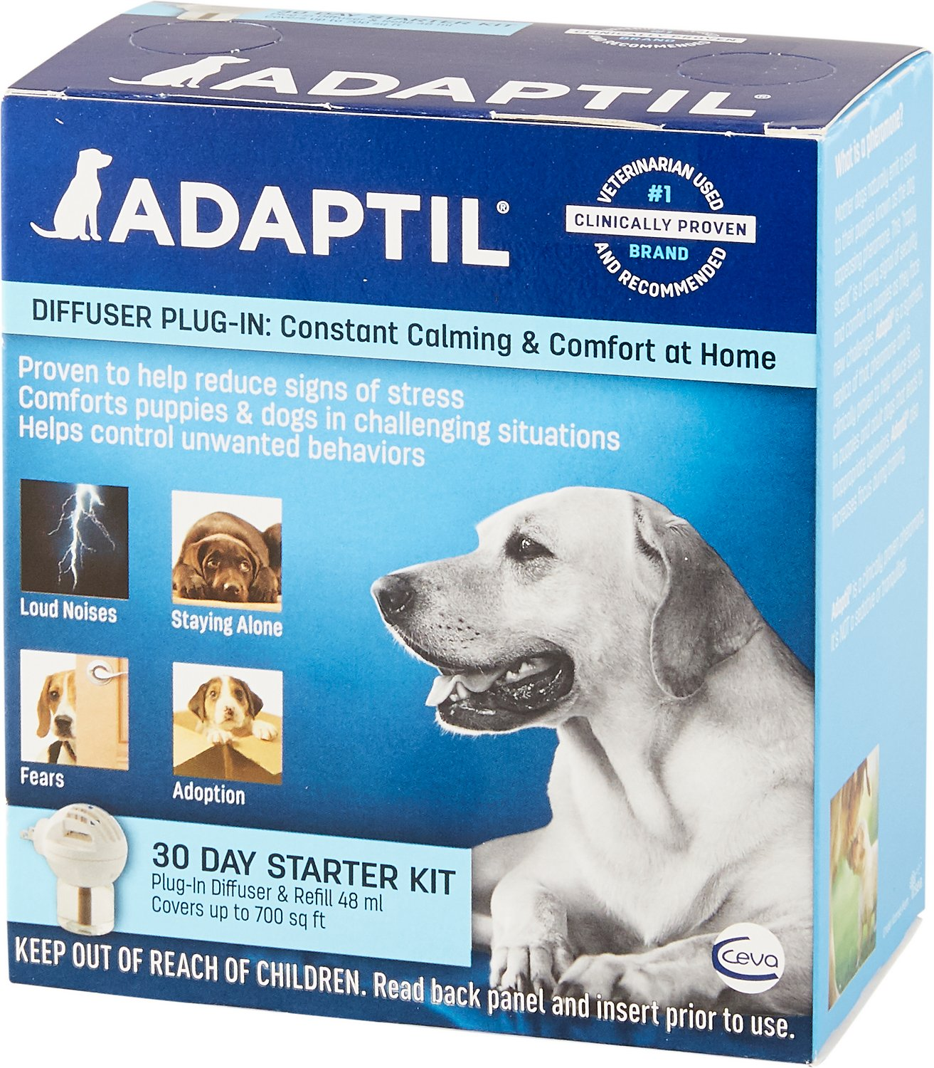 Adaptil Electric Calming Dog Diffuser, Starter Kit