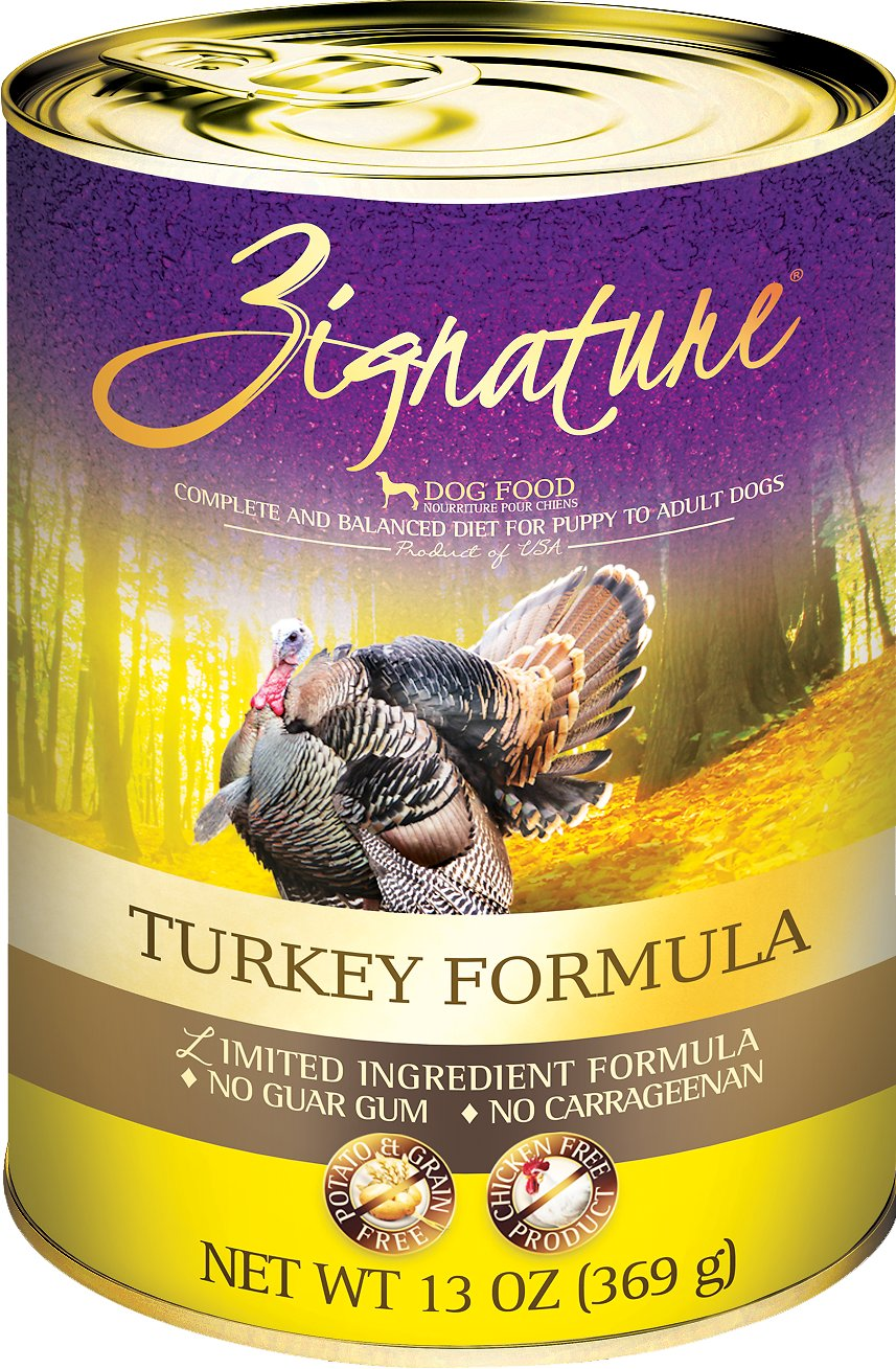 Zignature Turkey Limited Ingredient Formula Grain-Free Canned Dog Food, 13-oz