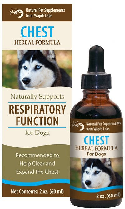 Wapiti Labs Chest Formula for Respiratory Function Dog Supplement, 2-oz bottle