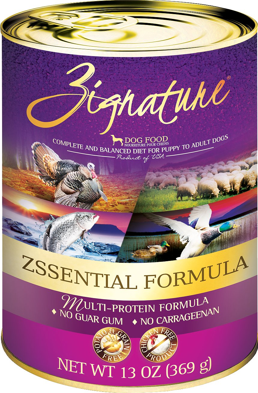 Zignature Zssential Multi-Protein Formula Grain-Free Canned Dog Food, 13-oz