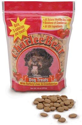 Charlee Bear Turkey Liver & Cranberries Flavor Dog Treats, 16-oz bag